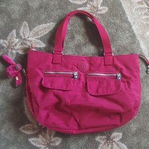 Kipling Gwyneth tote bag magenta pink large